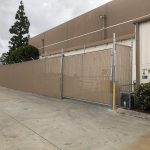 Industrial Fence install by Anaheim Fence Co
